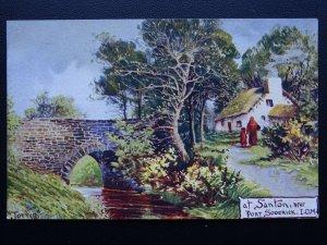 Isle of Man SANTON near PORT SODERIC Art by Jotter - Old Postcard by Hartmann