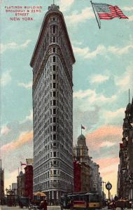 Flatiron Building, Manhattan, New York City, Early Postcard, Used in 1908