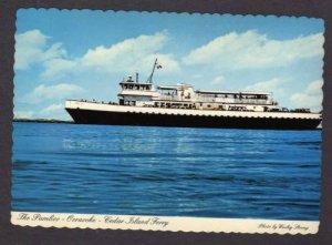 NC Pamlico Ferry Boat Ship OCRACOKE Cedar Island NORTH CAROLINA Postcard