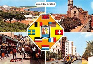 Spain Malgrat de Mar Costa Dorada Eglise Church Street Market Beach Panorama