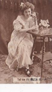 Humour Woman On Telephone Tell Him It's Rosa 1910