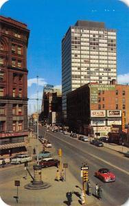 Denver Colorado~Broadway~Shirley-Savoy~Bank~Texaco~Schlitz BB~1950s Cars
