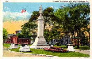 Rochester, Pennsylvania - The Soldiers' Monument and Park - c1920