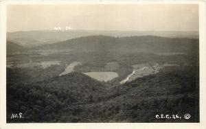 CEG #8 RPPC~Aerial View of Fields & Forest~Maryland-Pennsylvania State Line~1930