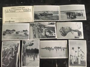 10 Ft Pierce FL US Navy Amphibious Training Base Real Picture Postcards Mint WW2