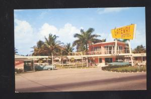 FORT LAUDERDALE FLORIDA GATEWAY MOTEL 1950's CARS