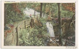 Caldeno Falls Delaware Water Gap PA -white border-