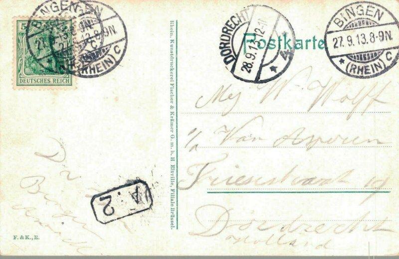 Germany Mäuseturm mit Ehrenfels b. Bingen a Rhein 03.04