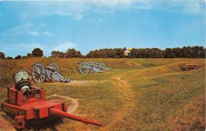 YORKTOWN VIRGINIA GRAND FRENCH BATTERY~AMERICAN REVOLUTIONARY WAR POSTCARD 1967