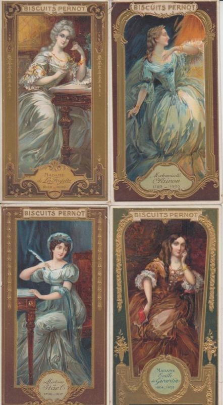 TRADE CARDS ADVERTISING BISCUITS PERNOT 12 VINTAGE CARDS (mostly pre-1940)