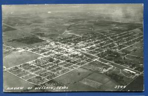 Weslaco Texas tx Air View real photo postcard RPPC