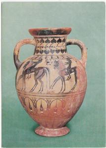 Postcard: Etruscan amphora, Pontic class c. 550-525 B.C.