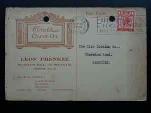 LEON FRENKEL Extra Choice OLIVE OIL Confirmation of Order c1929 Memo Postcard