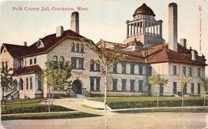 G29/ Crookston Minnesota Postcard c1910 Polk County Jail Building