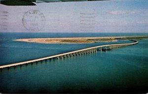 North Carolina Outer Banks Herbert C Bonner Bridge Spanning Oregon Inlet 1966