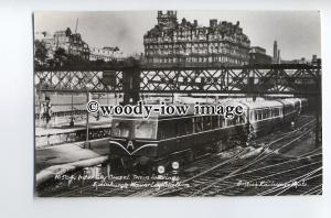 ry1298 - Inter City Diesel Train leaving Edinburgh Waverley Station - postcard