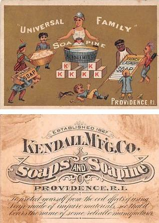 Approx Size Inches = 3 x 4.25 Soapine Kendall Home Soap Tradecard