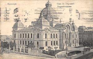 Bueuresti Bucharest Romania Bank Depositenkasse Exterior View Postcard J61593
