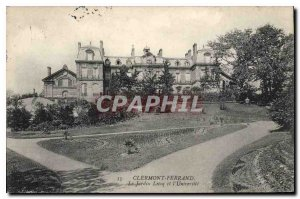 Old Postcard Clermont Ferrand Lecoq Garden and the University