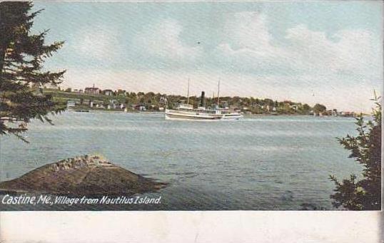 Maine Castine Village From Nautilus