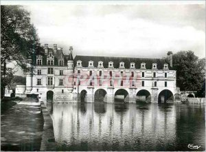 Modern Postcard Chenonceaux (I and L) West Facade Chateau Les Chateaux of the...