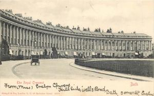 The Royal Crescent Bath UK 1903