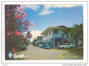 VW Bug automobile, Dirt Street,Village of Inarajan, Guam, 60-70s