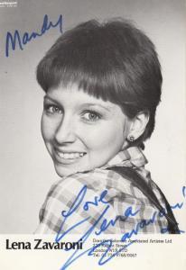 Lena Zavarone Dorothy Solomon Management Company Early Hand Signed Photo