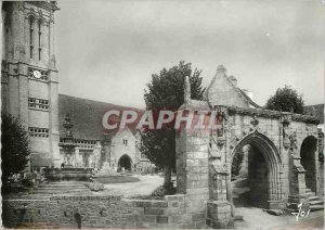 Modern Postcard From St. John Finger (Finistere) Church and Arch of Triumph b...