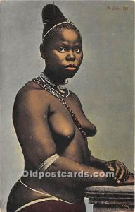 African Nude Postcard A Zulu Girl Unused