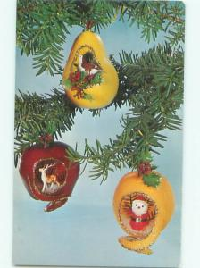 Pre-1980 This Is A Postcard CHRISTMAS ORNAMENTS BY NATIONAL HANDCRAFT AC7432-12