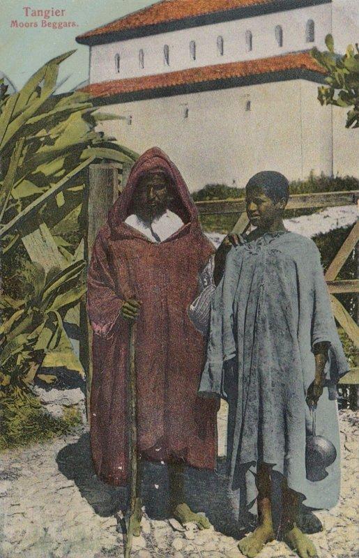 Morocco Tangiers Moors Beggars sk3105