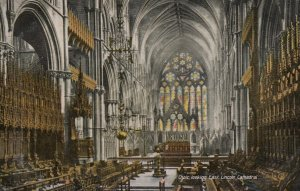 LINCOLN , England, UK , 1900-10s ; Choir looking East , Cathedral