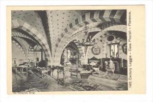 Interior, 14th Century Loggia, Casa Piccioli, Florence (Tuscany), Italy, 1900...