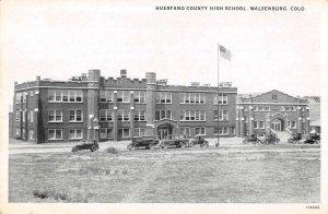 Walsenburg Colorado High School Vintage Postcard AA20299