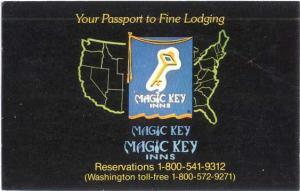 Surf Motel, Hwy. 1, Gualala, California, CA. Magic Key Inns Advertising Chrome