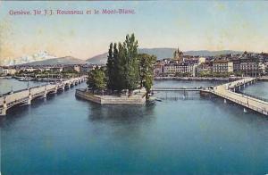 Jle. J. J. Rousseau Et Le Mont-Blanc, Geneve, Switzerland, 1900-1910s