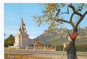 Postal 041800 : Montserrat. Barcelona. Monumento al Timbaler del Bruch y la m...