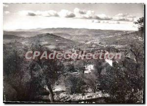 Postcard Modern Semi Magagnosc M A panoramic view towards Grasse and the Gulf...