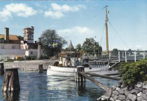 Tugboat in Harbor, Stora Strommen, Vastervik, Sweden 1965