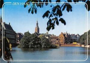 Netherlands Den Haag, Hofvijver Jacobuskerk Panorama
