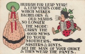 LEAP YEAR; 1900-10s; Old Maid, Newsgirl, Poem