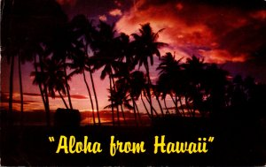 Hawaii Aloha With Beautiful Sunset 1959