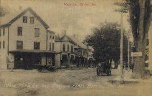Main St. and Masonic Hall in Bethel, Maine