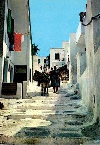 Greece Mykonos Picturesque Street