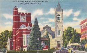 Public Library, First Congregational Church, And Tavern, Nashua, New Hampshir...