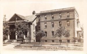 Fergus Falls Minnesota~Wright Hospital~Several Young Trees in Front~Vintage RPPC