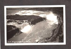 NY Niagara Falls Real Photo Postcard New York Canada RPPC ON Ontario Postcard