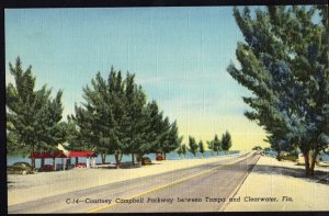 Florida ~ Courtney Campbell Parkway between TAMPA and CLEARWATER LINEN
