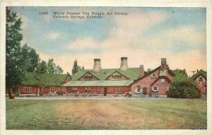 C-1915 Van Briggle Art Pottery Colorado Springs Colorado postcard 8247